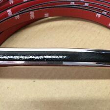 "Vintage Style 5/8"" Black & Chrome Side Body Trim Molding"