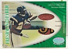 Ladainian Tomlinson 2001 Leaf Certified Materials Fabric RC Football Patch /400