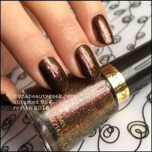 "Revlon Nail Polish ""Untamed"" #934  0.5oz 14.7ml  Chocolate Gold Glitter G12/7"