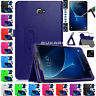 """Tempered Glass + Leather Stand Case For Samsung Galaxy Tab A6 10.1"""" T585 T580"""