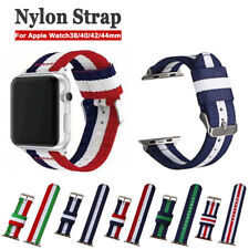 Apple Watch Band Nylon Stripe Strap For iWatch 38/40 42/44mm Series 5/4/3/2/1