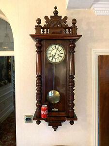 Fully Restored Fantastic Grand Gustav Becker 1920s Vienna Antique Wall Clock,KEY