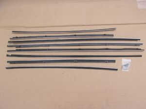NEW 1957 - 1959 Plymouth Dodge 2 Door Hardtop Window Belt Sweep Catwhisker Set