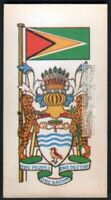 Flag And Standard Banner For Guyana c50 Y/O Trade Ad Card