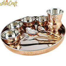 Asiacraft Dinnerware Stainless Steel Copper Traditional Dinner Set