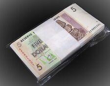 100 x Zimbabwe 5 Dollar banknotes-full uncirculated currency bundle