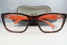 Ray-Ban RB 5347-I 5500 Havana/Orange Authentic Eyeglasses 54mm Case