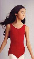 NWT CAPEZIO TANK LEOTARD CC201 Garnet Ladies sizes Cotton Lycra high neck