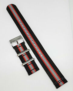 Original Tissot Quickster T095410A / T095417A Black / Red / Gray Band Strap