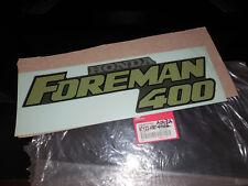 NOS Honda OEM TRX400 TRX 400 FourTrax Foreman 400 Emblem Type 2 87122-HM7-A00ZB