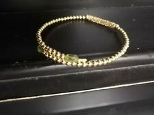 Crazy deal! Authentic solid 18 k gold bead Snap-On bracelet!Hallmarked!Lifetime!