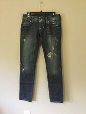 Guess Jeans Women Daredevil Skinny Leg Stretch Distressed Jeans Size 28