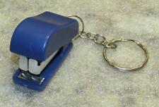 Mini Blue STAPLER School Office for Paper KEY CHAIN Ring Keychain NEW