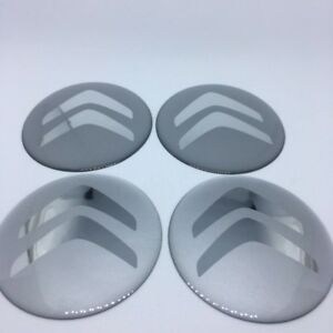 NEW 4pcs Silicone Stickers for Wheel Centre Cap Hubs for CITROEN - 60mm