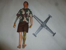 VINTAGE ATOMIC MAN CAMO OUTFIT FIGURE MIKE POWERS & COPTER KUNG FU GRIP 1970S >>
