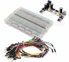 Clear Mini Prototype board deck & k2 Power Supply, 65 pcs Breadboard Wire cable