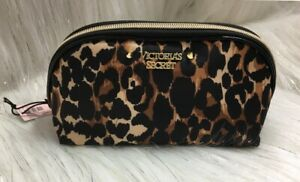 Victoria's Secret Leopard Cheetah Travel Cosmetic Makeup beauty Bag New with Tag