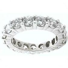5.86 ct Round Diamond Eternity Ring Platinum Band 13 x 0.45 ct, F-G Si1 any sz