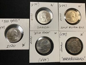 2020 W! Complete Set Of West point quarters (V75)Privy Mark, Circulated