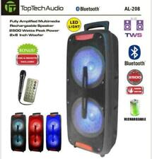 "TOP TECH AUDIO Portable 2500 Watts Peak Power 2X8"" Speaker FREE MICHROPHONE!!!"