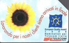50-Scheda telefonica Telecom European Quality Award 1998 sc.12/2000