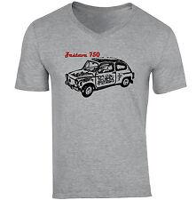 ZASTAVA 750 - NEW COTTON GREY V-NECK TSHIRT