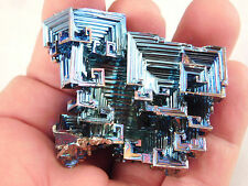 A Super Symmetrical Purple Blue and Gold BISMUTH Crystal From England 70.7gr