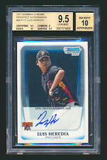 2011 BOWMAN CHROME LUIS HEREDIA RC AUTOGRAPH PIRATES BGS 9.5 GEM MINT 10 AUTO