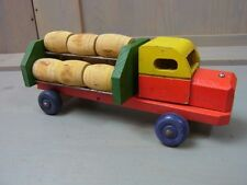 Q1 * Colorful Wooden Toy Beer Wine Delivery Truck * Erzgebirge DDR GDR German