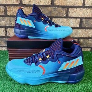 🏀Adidas Dame 7 EXTPLY (Size 10) H68606 'Dark Blue/Light Blue/Orange Sneakers 🏀