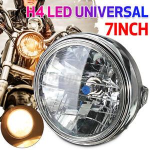 Universal 7 Inch Motorcycle Motorbike Black Headlight Front Light Headlamp