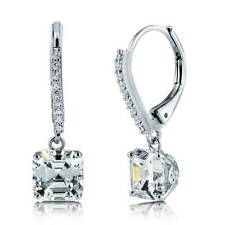 BERRICLE Sterling Silver Cubic Zirconia Leverback Wedding Dangle Drop Earrings