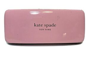 Kate Spade New York Pink and Dark Green Hard Side Eyeglasses Frames Case