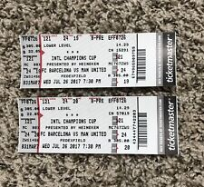 2017 Manchester United Vs FC Barcelona International Champions Cup Ticket Stubs