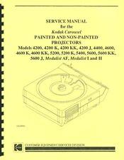 Kodak Carousel Service & Repair Manual 4000 5000 & Medalist Series Reprint