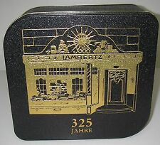 Advertising TIN Lambertz Germany Biscuit cookie  Box Black/gold 325 Jahre 8½""
