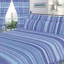 DOUBLE BED DUVET COVER SET STRIPED BLUE NAVY BABY BLUE SIMPLE ELEGANT BEDDING