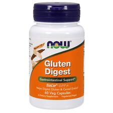 Now Foods glúten Digest 60 Veg Cápsulas Com Frete Grátis. Made In Usa