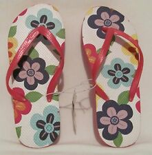 New! GAP Kids Girls Pink Multi-Color Flip Flops SZ 3/4 Sandals Summer Slip-On