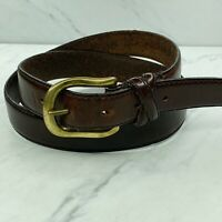 Kenneth Cole New York Full Grain Brown Leather Belt Solid Brass Buckle Size 36