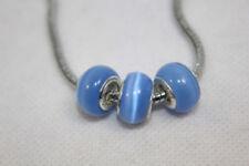 Charms y pulseras de charms de bisutería color principal azul de cristal