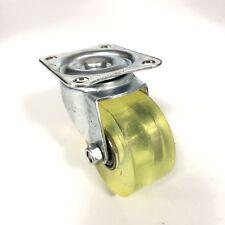 """Swivel Flat Plate 2"""" Single Wheel Caster Clear Yellow"""