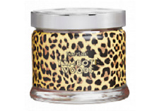 Partylite Tamboti Woods Leopard Print Signature 3-wick Jar Candle Brand New