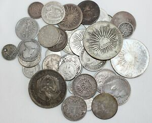 7.2 Troy Oz .900 Silver Content Coins Mixed Lot Asst Dates Grades Countries