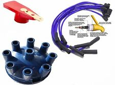 Range Rover V8 Blue Distributor Cap & Red Rotor Arm & Blue 8mm HT Leads