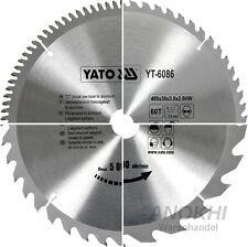 Yato HM Kreissägeblatt Ø 130 - 400 mm f. Holz oder NE-Metall Z= 12 - 100 WZ TFZ