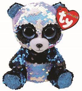 Ty Beanie Flippables 36361 Bamboo the Blue Panda Flippable Regular