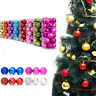 24X Christmas Balls Hanger Baubles Xmas Tree Hanging Ornament Decor 30mm New