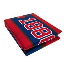 Arsenal Fc Reversible Double Duvet Quilt Cover Set & Pillow Cases ES