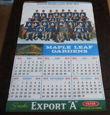 "Export ""A""  Maple Leaf Gardens Calendar Page Toronto Maple Leafs 1970 - 1971 # 2"